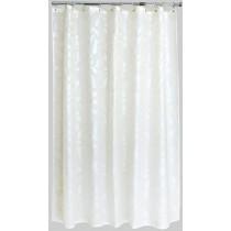 Aqualona 46609 Polyester Silk Leaf Shower Curtain - 180 x 180cm