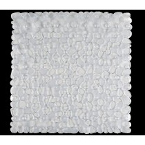 Aqualona 46616 PVC Pebbles Shower Mat - Clear - 54 x 54cm