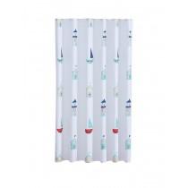 Aqualona 47125 Polyester Beach Hut Shower Curtain - 180 x 180cm
