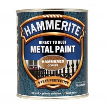 Hammerite Direct To Rust Metal Paint - Hammered Copper - 750ml