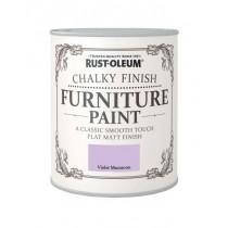 Rust-Oleum Chalky Furniture Paint (Flat Matt) Violet Macaroon - 750ml