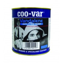 Coo-Var Vandalene Anti Climb Paint - Black - 2kg