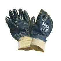 SCAN Nitrile Knitwrist Heavy-Duty Gloves - One Size