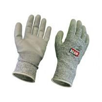 SCAN Grey PU Coated Cut 5 Gloves - L