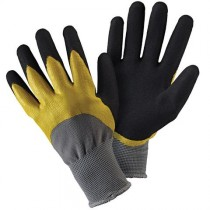 Briers B6427 Double Dip Gloves - Yellow & Black (L)