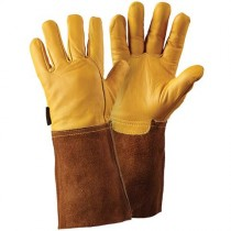 Briers B6534 Premium Leather Gauntlet Gloves - Golden (L)