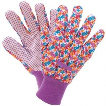Briers B5252 Cotton Grip Gloves - Busy Floral (S)