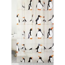 Blue Canyon SC409 Peva Penguin Shower Curtain - 180 x 180cm