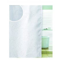 Blue Canyon SC501WH Polyester Diamante Spiral Shower Curtain - White - 180 x 180CM