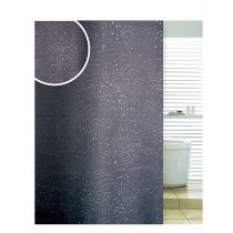 Blue Canyon SC501BK Polyester Diamante Spiral Black Shower Curtain - 180 x 180CM