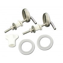 Blue Canyon TS-100 Stainless Steel Replacement Toilet Seat Hinge Set - Chrome