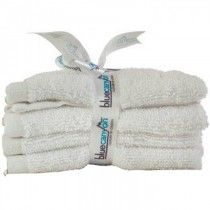 Blue Canyon Premier Collection Face Cloth -  White - 4 Pack