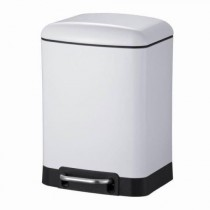Blue Canyon BA2006WH OSLO Soft Close Pedal Bin - White - 6L