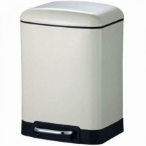 Blue Canyon BA2006CR OSLO Soft Close Pedal Bin - Cream - 6L