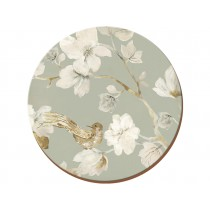 Creative Tops Duck Egg Floral Round Premium Coasters - Pack of 4