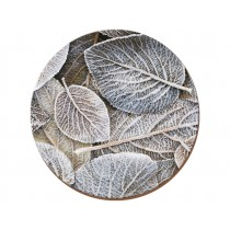 Creative Tops Frosted Leaves Round Premium Coasters - Pack of 4