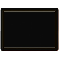 Creative Tops Classic Premium Placemats Black - Pack of 6