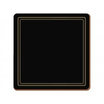 Creative Tops Classic Premium Coasters Black - Pack of 6