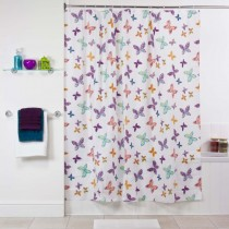 Aqualona 73306 Butterfly Blossom Shower Curtain - 180 x 180cm