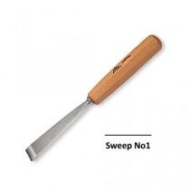 Stubai Straight Flat Carving Tool No1 Sweep  - 10mm