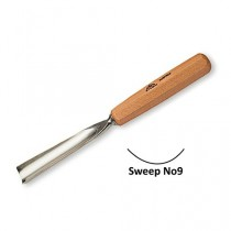 Stubai Straight Carving Gouge No9 Sweep - 6mm