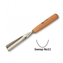 Stubai Straight Carving Gouge No11 Sweep - 10mm