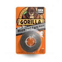 Gorilla Heavy Duty Mounting Tape - Black - 1.5m