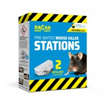 RACAN (R8902) RAPID PREBAITED / REUSABLE MOUSE STATIONS - Pack of 2