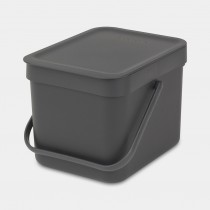 Brabantia (109720) Sort & Go Waste Bin 6L - Grey