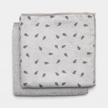 Brabantia (117688) Microfibre Dish Cloths - Light Grey - 2 Pack