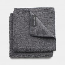 Brabantia (118029) Microfibre Dish Cloths - Dark Grey - 2 Pack