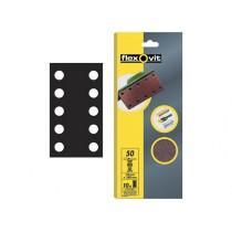 Flexovit 1/2 Sanding Sheets - 115mm x 280mm - Perforated Coarse 50g (10)