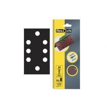 Flexovit 1/3 Sanding Sheets - 93 x 230 mm - Perforated Coarse 50g (10)
