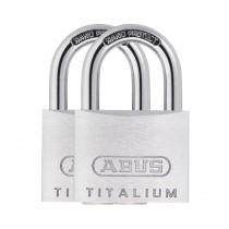 Abus 64TI/40 Titalium Padlock (2 Pack) 40mm