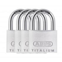 Abus 64TI/40 titalium Padlock (4 Pack) 40mm