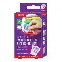 Acana Sachet Moth Killer & freshener - 20 Sachets - Lavender