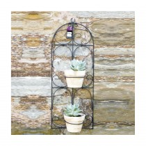 Adobe Scroll Frame Planter - 2 Pot