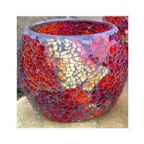 Adobe Mosaic Candle Holder (Medium) Opal