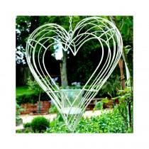 Adobe Wire Tea Light Hanging Heart - Small