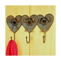 Adobe 3 Heart Coat Hook