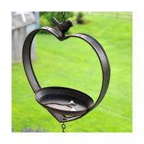 Adobe Heart Shaped Venice Hanging Rustic feeder