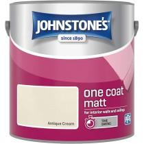 Johnstone's One Coat Matt Paint - Antique Cream - 2.5L