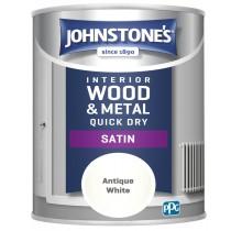 Johnstone's Interior Quick Dry Satin - Antique White - 750ml