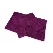 Blue Canyon 105/AU Premier Bath Mat Set 2 Piece - Aubergine