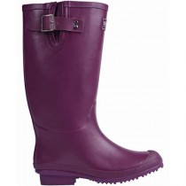 Briers B6794 Rubber Wellington Boots - Aubergine - Size 4