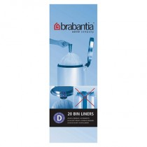 Brabantia (246760) Bin Liners - Size D (15 Litre) - Pack of 20