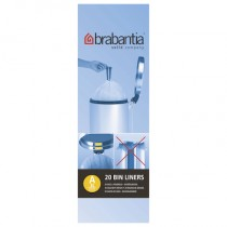 Brabantia (311727) Bin Liners - Size A (3 Litre) - Pack of 20