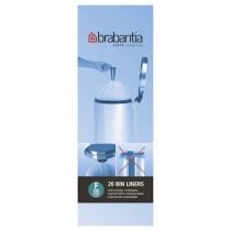 Brabantia (245305) Bin Liners - Slimline Size F (20 Litre) - Pack of 20