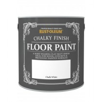 Rust-Oleum Chalky Finish Floor Paint (Matt) Chalk White - 2.5L