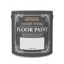 Rust-Oleum Chalky Finish Floor Paint (Matt) Winter Grey - 2.5L